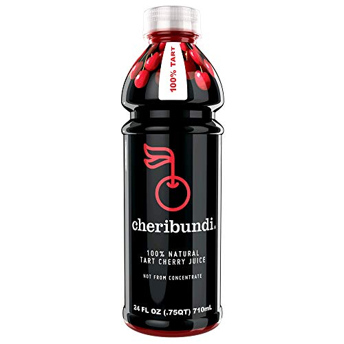 Cheribundi 100% Tart Cherry Juice – 60 Tart Cherries and 100 Calories Per 24oz. Serving, One Ingredient, All of the Benefits, Reduce Soreness, Recover Faster, Boost Immunity and Improve Sleep, 8 Pack ()