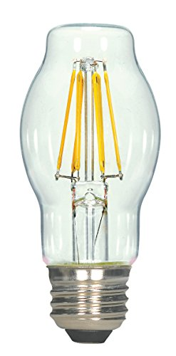 Bt15 Medium Base - Satco S9576 BT15 LED Clear Medium Base Light Bulb, 6.5W