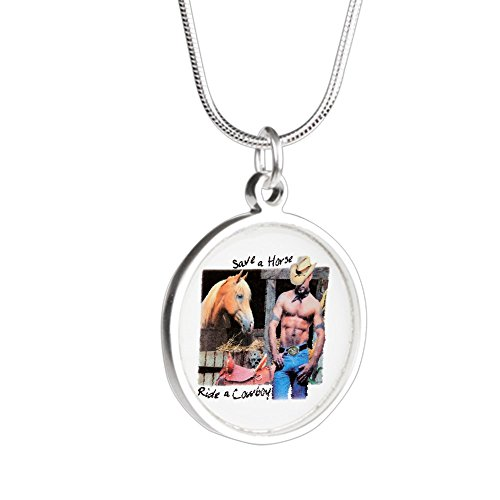 Save A Horse Ride A Cowboy Costumes - Royal Lion Silver Round Necklace Country