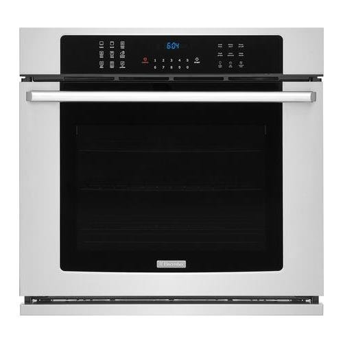 Electrolux EI30EW38TS 30″ Single Wall Oven with 5.1 cu. ft. Capacity Dual-Fan Convection Steam Clean Option Luxury-Design Lighting in Stainless
