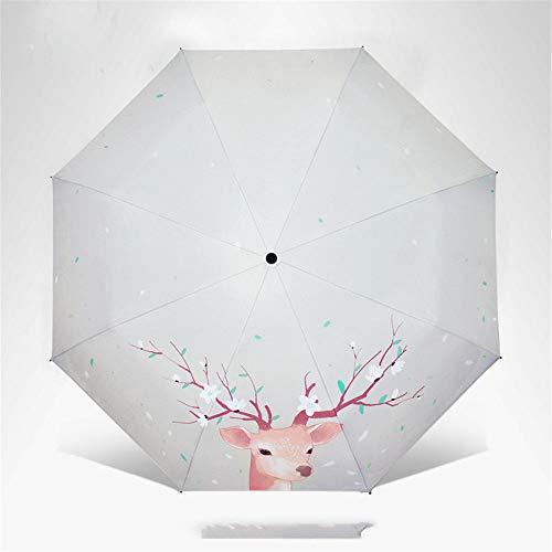 - CHUANG TIANG Portable Folding Umbrellas, Windproof Travel Folding Umbrella Golf Umbrella for Sun & Rain,Elk