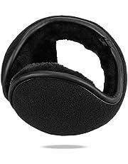 AMYIPO Unisex Foldable Earmuffs Polar Fleece/Kints Behind the Head Winter Ear Warmers