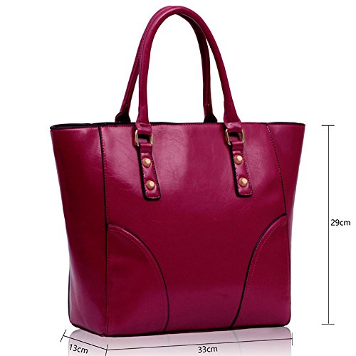 TrendStar - Bolso al hombro para mujer W - Purple