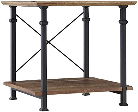 Homelegance Factory 24 x 22 End Table, Rustic Brown