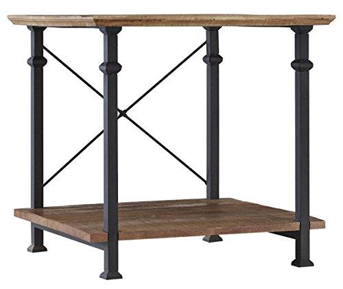 Rustic Metal Wood End Tables Living Room: Amazon.com