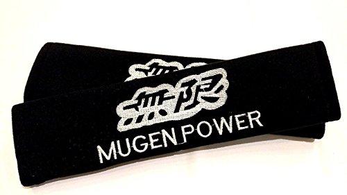 Car Accessory Warehouse Exclusive Product - 無限 MUGEN Seat Belt Shoulder Pad Custom Automotive Seatbelt Pads (Parts Mugen)