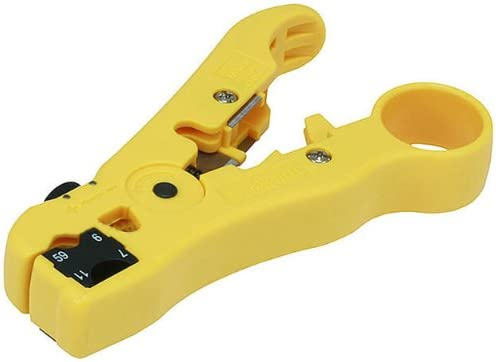 Cable Stripper For RG59 RG6 RG11 Coaxial Wire Coax Stripping Tool Kits OQOFPTH