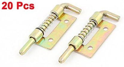 DealMux DealMux Schrankt/ür 2-Zoll gefederter Metallriegel f/ür den linken Lauf Metallpackung /à 20 St/ück 20 St/ück