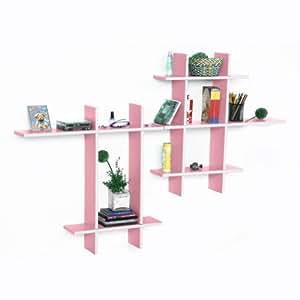 Trista - [Angel Kiss-MEGA] Leather Cross Type Shelf / Bookshelf / Floating Shelf (9 pcs)