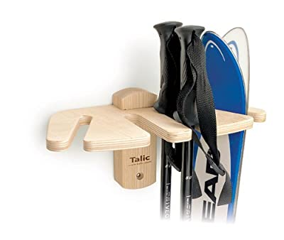 Talic Ski Rack - Two Pair Ski and Pole Vertical Storage Rack
