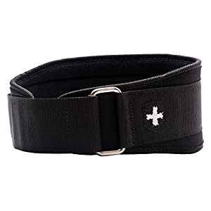 Harbinger 5-Inch Weightlifting Belt with Flexible Ultra-light Foam Core, Black, Large (33 – 37 Inches)