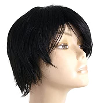 Haarteil Perücke Kurze Haare Schwarz Wig Für Damen Fein Amazonde