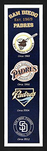 San Diego Padres Framed Heritage Banner 13x36 inches (San Diego Padres Fan Banner)