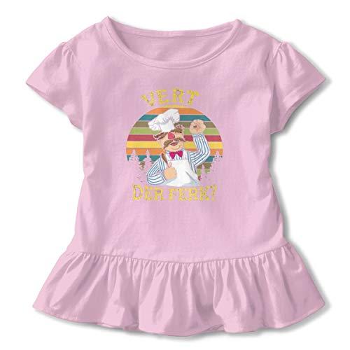 Vert Tee - Swedish Chef Vert Der Ferk Vintage Baby Girls Short Sleeve T-Shirt for Kids Cute Pink Princess Sweetheart Shirt