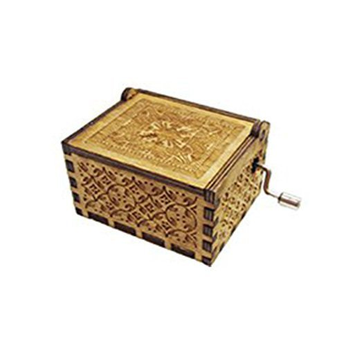 Music Box Handmade Engraved Wooden for Xmas Gift Valentines
