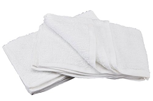 """Simpli-Magic 78992-60PK White (Size:12""""x12"""") Terry Towels Cleaning Cloths. Ideal for Home, Auto, Salon, Gym, Makeup Removing & Pets, 60 Pack by Simpli-Magic (Image #2)"""