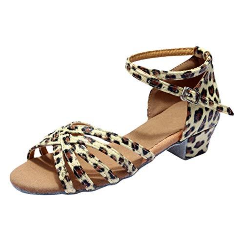 (Women's Latin Dance Shoes,SMALLE◕‿◕ Women Standard Female's Ballroom Salsa Dance Shoes Beginner Practice Shoes Beige)