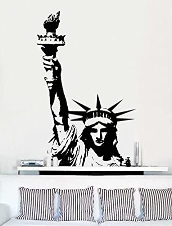 Charming Vinyl Wall Art Decal Sticker Statue Of Liberty Huge (BLACK Color) #136A  40u0026quot Part 2