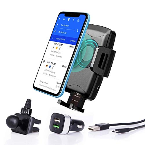 Fast Charging Car Mount QI Wireless Charger for Mobile ()