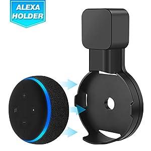 Best Epic Trends 41NkDRXlOTL._SS300_ Echo Dot Wall Mount Holder for 3rd Gen, Amazon Echo Dot Alexa Outlet Holder Stand, A Space-Saving Echo Dot Accessories…