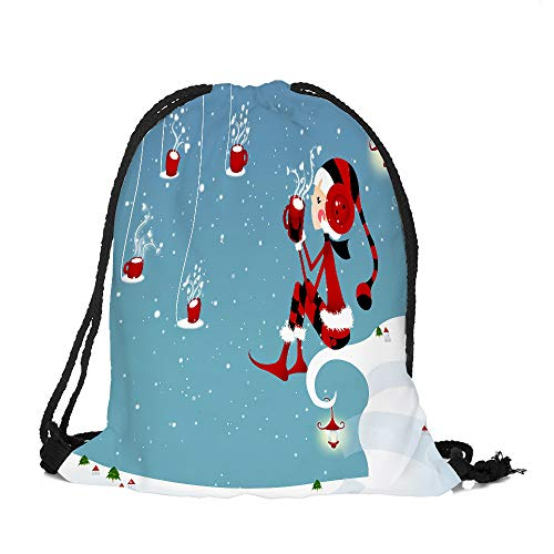 Price comparison product image HYIRI Merry Christmas Candy Bag Satchel Rucksack Bundle Pocket High Capacity Storage Bag