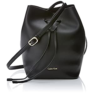 Calvin Klein Rev Medium Bucket, Women's Cross-Body Bag, Black, 15x28x20 cm (B x H T)