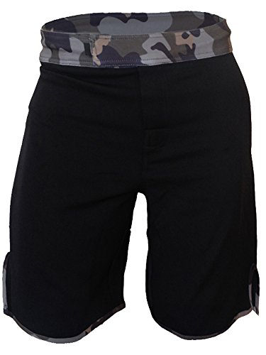 Blank WOD Shorts by Epic MMA Gear (Men 34, Black/Camo)