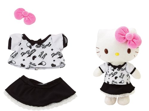 Hello Kitty Accessory - Dress Me Black & White Tee & Skirt - Outfit Only