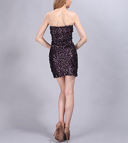Whitewed Courtes Pour Femmes Scintillante De Sequins Bandeau Paillettes Moulante Vegas Robes Violet