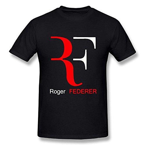 TisEEaZs Mens Tees-Funny Roger Federer Black 3X