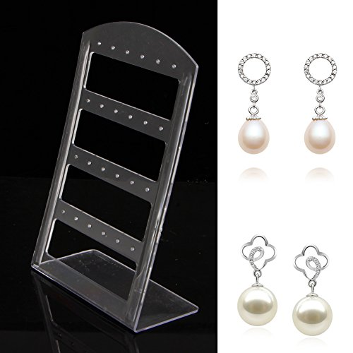 NNDA CO 24 Holes Jewelry Earring Show Case Plastic Display Rack Stand Holder