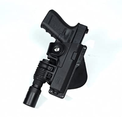 Fobus Roto Tactical Speed Holster Paddle Left Hand GLT17RPL Glock 17,22,31 / Ruger 345 / Berretta PX Storm / S&W M&P Full Size / Berretta PX4 Storm Full Size / S&W 99 Full Size 9/40/45 / Walther 99 Full Size 9/40 / Ruger SR9 / Sig 226 holds Handgun with L