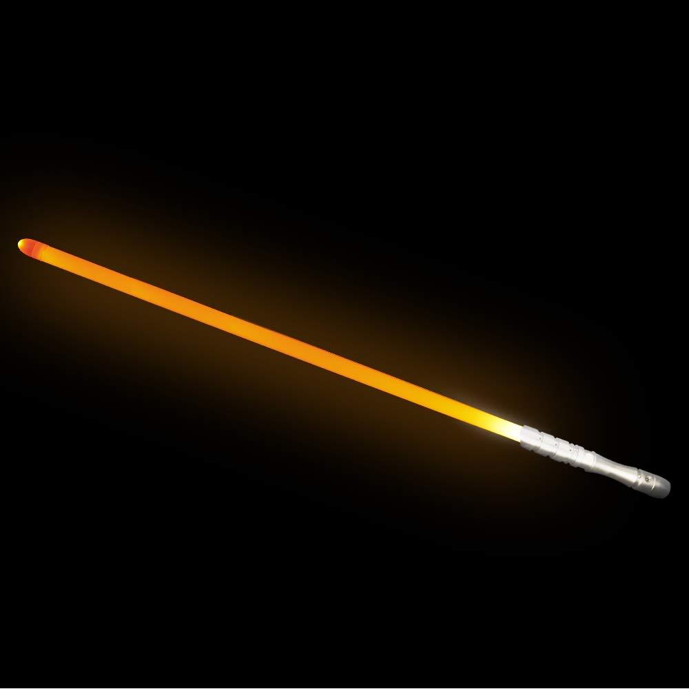 YDD Light Saber Star Wars LED Light Up Sword, Loud Sound High Light with FOC, Metal Hilt Rechargeable Lightsaber, Xmas Gift for Kids and Adults(Silver Hilt Orange Blade)
