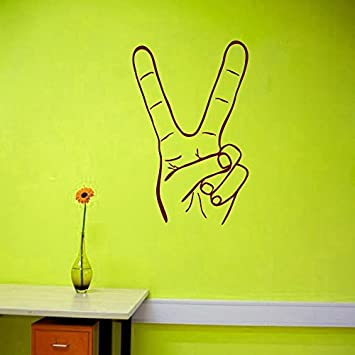 Wall Decals Hippie Hand Peace Sign Bedroom Living Any Room Vinyl Decal  Sticker Home Decor L266. Wall Decals Hippie Hand Peace Sign Bedroom Living Any Room Vinyl