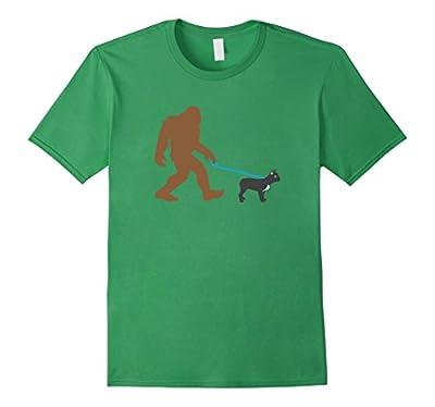 Bigfoot Walking French Bulldog Shirt, Funny Sasquatch Gift
