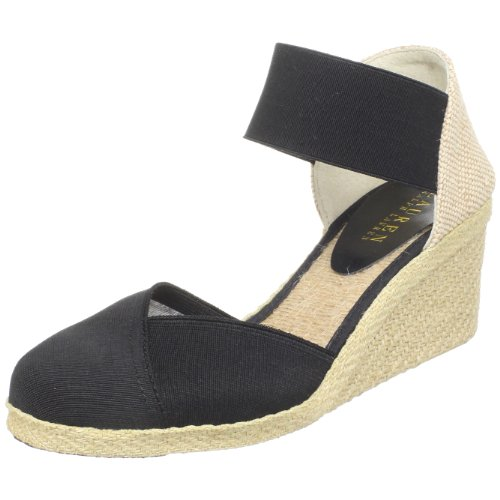 Lauren Ralph Lauren Women's Charla Closed-Toe Espadrille,Black,8.5 M US