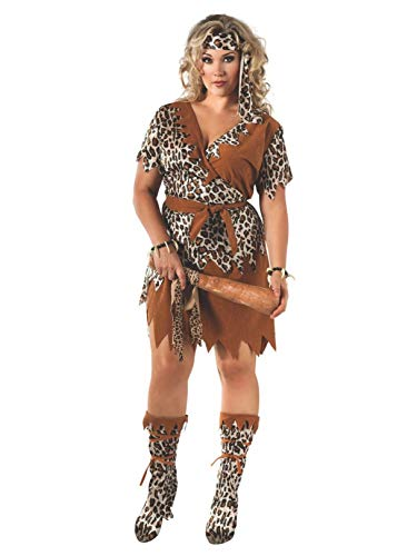 Rubie's Women's Cavewoman Costume, Multi, Plus Size