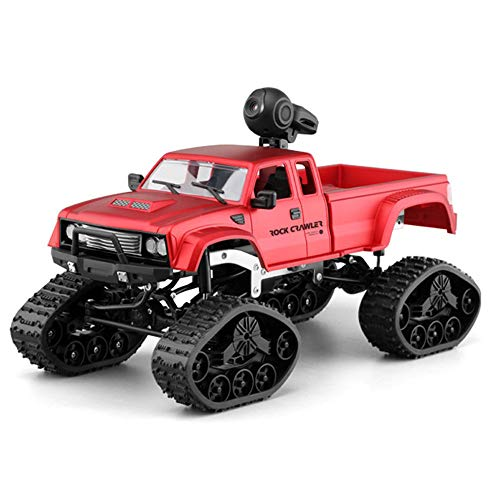 Axiba Rc Military Truck Remote Control Off-Road Racing Vehicles 1:16 2.4G 2CH 4WD Off-Road Kids RC Toy HD Camera LED LightHigh Torque Front RC Off-Road Truck Car (Red) ()