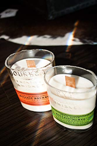 Cheap The Original Wood Wick Bulleit Bottle Candle with 100% organic soy wax