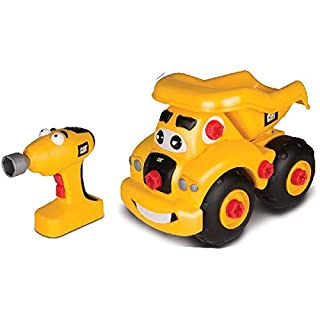 Toy State Caterpillar CAT Buildin' Crew Take-A-Part Buddies Haulin' Harry Dump Truck Light & Sound Vehicle