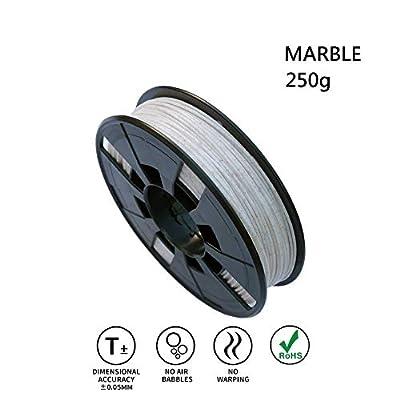 LEE FUNG 1.75mm PLA 3D Printing Filament, Dimensional Accuracy +/- 0.05mm, 0.55 LBS (0.25KG) Spool,1.75 mm 3D Filament for Most 3D Printer & 3D Printing Pen (Marble)