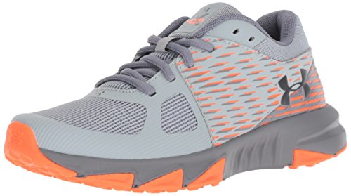 Under Armour Boys' Grade School X Level Prospect Sneaker, Overcast (101)/Zinc Gray, 6