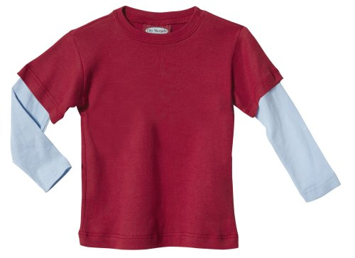 City Threads Girls' Solid Long Sleeve Basic T-Shirt Double Color