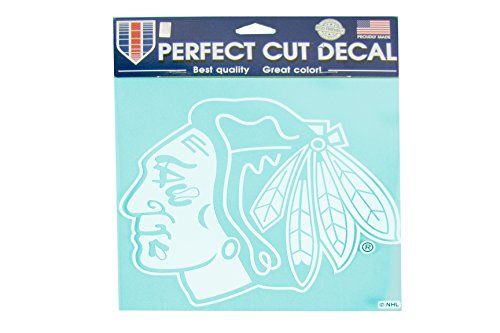NHL Officially Licensed Chicago Blackhawks 8''x8'' White Die-Cut Decal