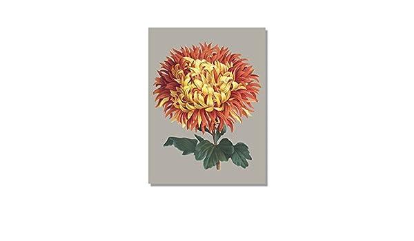 WSWWYHermoso póster de Flores con crisantemo sobre Lienzo A ...