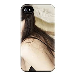 For Iphone 4/4s Premium Tpu Case Cover Beautiful Girl Heavy Makeup Protective Case