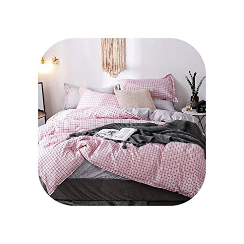 (QianQianStore Cartoon Pink Love Symbol Bedding Sets 3/4pcs Children's Boy Girl and Adult Bed Linings Duvet Cover Bed Sheet Pillowcase,22,Queen Cover200X230cm)