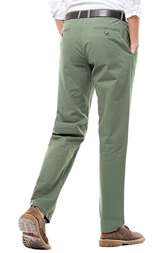 Pantaloni Casual Fit E Per Più Tinta Colori Uomo Verde Unita Stile Cui Straight Militare Chino Tra Scegliere qrrxFwC