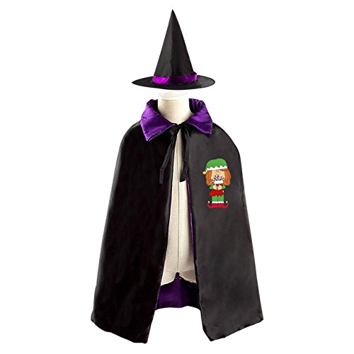 The Girl Dress Joker cloths Kids Halloween Party Cosplay Costume Witch Cloak Wizard Cape With Magic Hat (The Joker Costume Diy)
