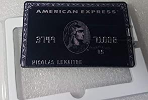 J & J Pen Drive Credit Card Memoria USB Tarjeta de crédito 8GB 16GB 32GB 64GB Pluma Memory USB Negro AMEX Black 8GB